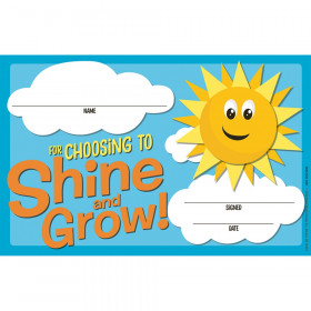 Growth Mindset Choosing to Shine & Grow Recognition Award, Pack of 36