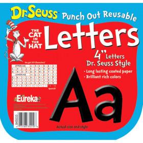 Dr. Seuss Punch Out Deco Letters, Black