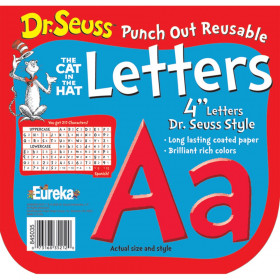 Dr. Seuss Punch Out Reusable Red Letters, 4""