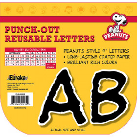 Peanuts Black Deco Letters