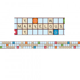Scrabble Letters Extra Wide Die Cut Deco Trim