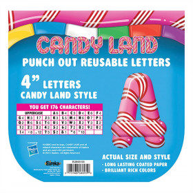 Candy Land Pepper Stripes Deco Letters