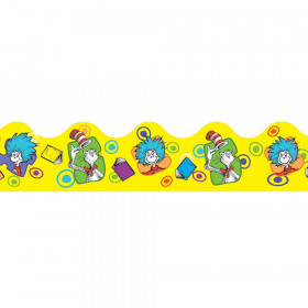Dr. Seuss Yellow Extra Wide Die Cut Deco Trim
