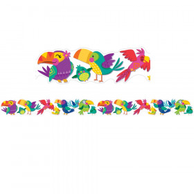 You Can Toucan Birds Deco Trim Extra Wide Die Cut