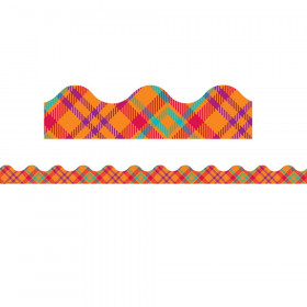 Plaid Attitude Orange Plaid Deco Trim