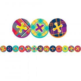 Plaid Attitude - Buttons Deco Trim Extra Wide Die Cut