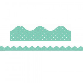 Simply Sassy - Teal Polka Dots Deco Trim
