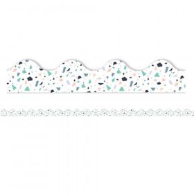 Simply Sassy - White Terrazzo Deco Trim
