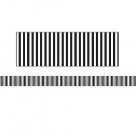 Simply Sassy - Black and White Stripe Deco Trim - Extra Wide Die Cut