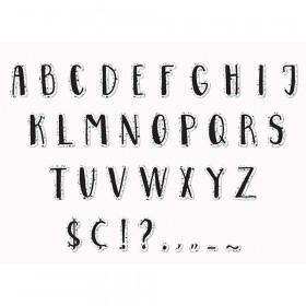 White Terrazzo 4In Deco Letters Simply Sassy
