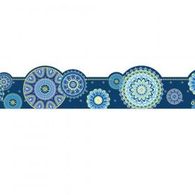 Blue Harmony Mandala Ex Wide Trim Die Cut Deco
