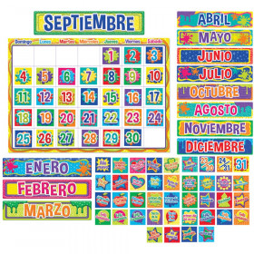 Color My World Spanish Calendar Bulletin Board Set