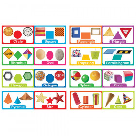 Shapes and Solids Mini Bulletin Board Sets