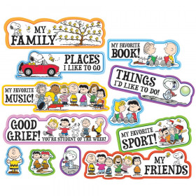 Peanuts Star Of The Week Mini Bulletin Board Set