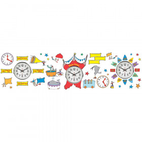 Dr Seuss - If I Ran The Circus Telling Time Bulletin Board Set