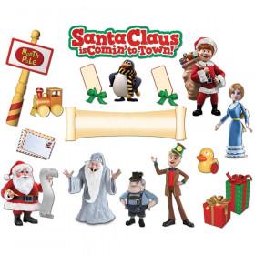 Santa Comin To Town Mini Bulletin Board Set