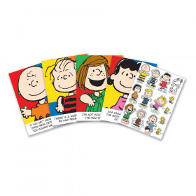 Peanuts Characters & Motivational Phrases Bulletin Board Set