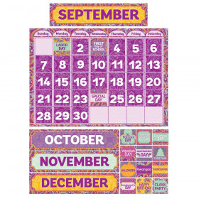 Positively Paisley Calendar Bulletin Board Set