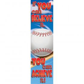 Baseball Motivational Banner, 4'