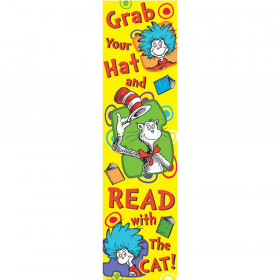 Dr Seuss Grab Your Hat Vertical Banner