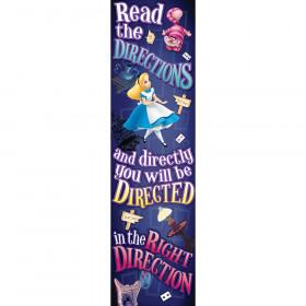 Alice In Wonderland Right Direction Vertical Banner