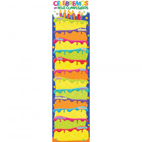 Color My World Spanish Birthday Banners Vertical