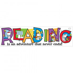 Peanuts Reading Banner