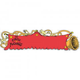 Dr Seuss - If I Ran The Circus Die Cut Banner - Horizontal