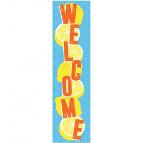 "Always Try Your Zest Welcome Vertical Banner, 12"" x 45"""