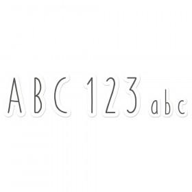 A Close-Knit Class Simple Print Deco Letters, 246 Pieces
