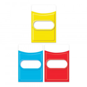 Color My World Assorted Library Pockets, Pack of 35