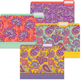 Positively Paisley File Folders, Pack of 4