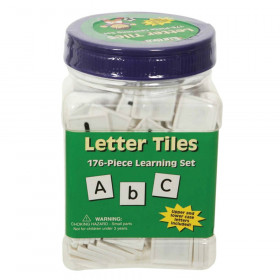 Letter Tiles Upper & Lower 176/Pk 1 X 1 Black