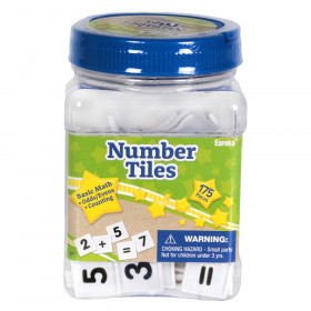 Tub of Number Tiles Manipulatives