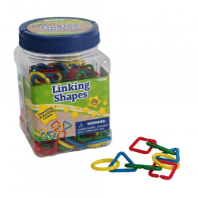 Tub of Linking Shapes Manipulatives