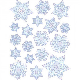 Window Cling Snowflakes 12 X 17