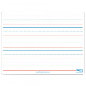 """Two-Sided Magnetic Dry Erase Board, Plain/Ruled, 9"""" x 12"""""""