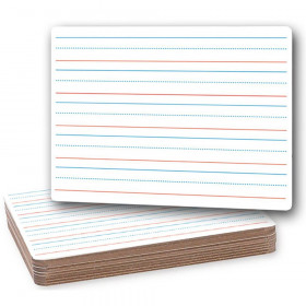 "Two-Sided Dry Erase Board, Plain/Ruled, 9"" x 12"", Classpack of 12"