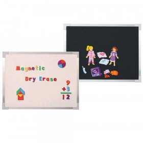 """Magnetic Dry-Erase and Flannel Board, 18"""" x 24"""""""
