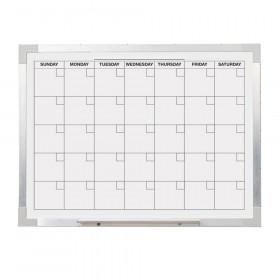 """Dry Erase Magnetic Aluminum Framed Calendar, 18"""" x 24"""""""