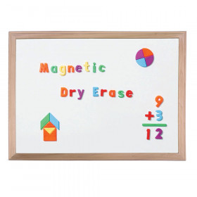"Wood Framed Magnetic Dry Erase Board 18"" x 24"""