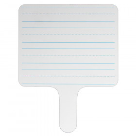"Two-sided Rectangular Dry Erase Writing Paddle, Lined/Blank, 7.75"" x 10"""