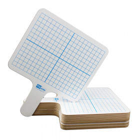 "Two-Sided (3/8"" Graph/Blank) Rectangular Dry Erase Graphing Paddles, Class Pack of 12"