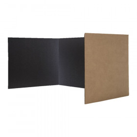 "Corrugated Study Carrels, Black, 12"" x 48"", Pack of 24"