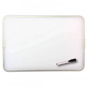 "Two-Sided Aluminum Framed, Magnetic Dry Erase Board w/Pen, 12"" x 17.5"""