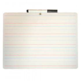 Two Sided Lined/Plain Dry Erase Board w/Marker, Set of 24