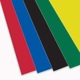 """Foam Board, Assorted Colors, 20"""" x 30"""", Pack of 10"""