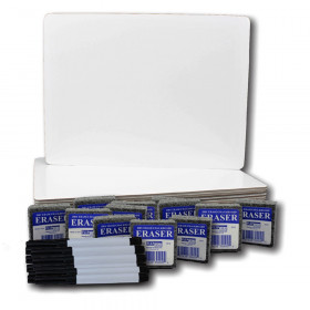 """Magnetic Dry Erase Board Class Pack, 9"""" x 12"""", Set of 12"""