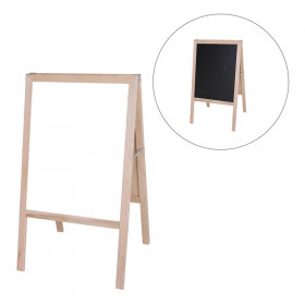 """Natural White Dry-Erase/Black Chalkboard Marquee Easel, 42"""" x 24"""""""
