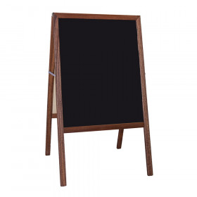 "Stained Marquee Easel with Black Chalkboard, 42"" H x 24""W"
